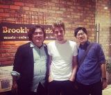 Tim in Tokyo with Toshi Kanazawa & Mikiya Tanaka of P-Vine Records